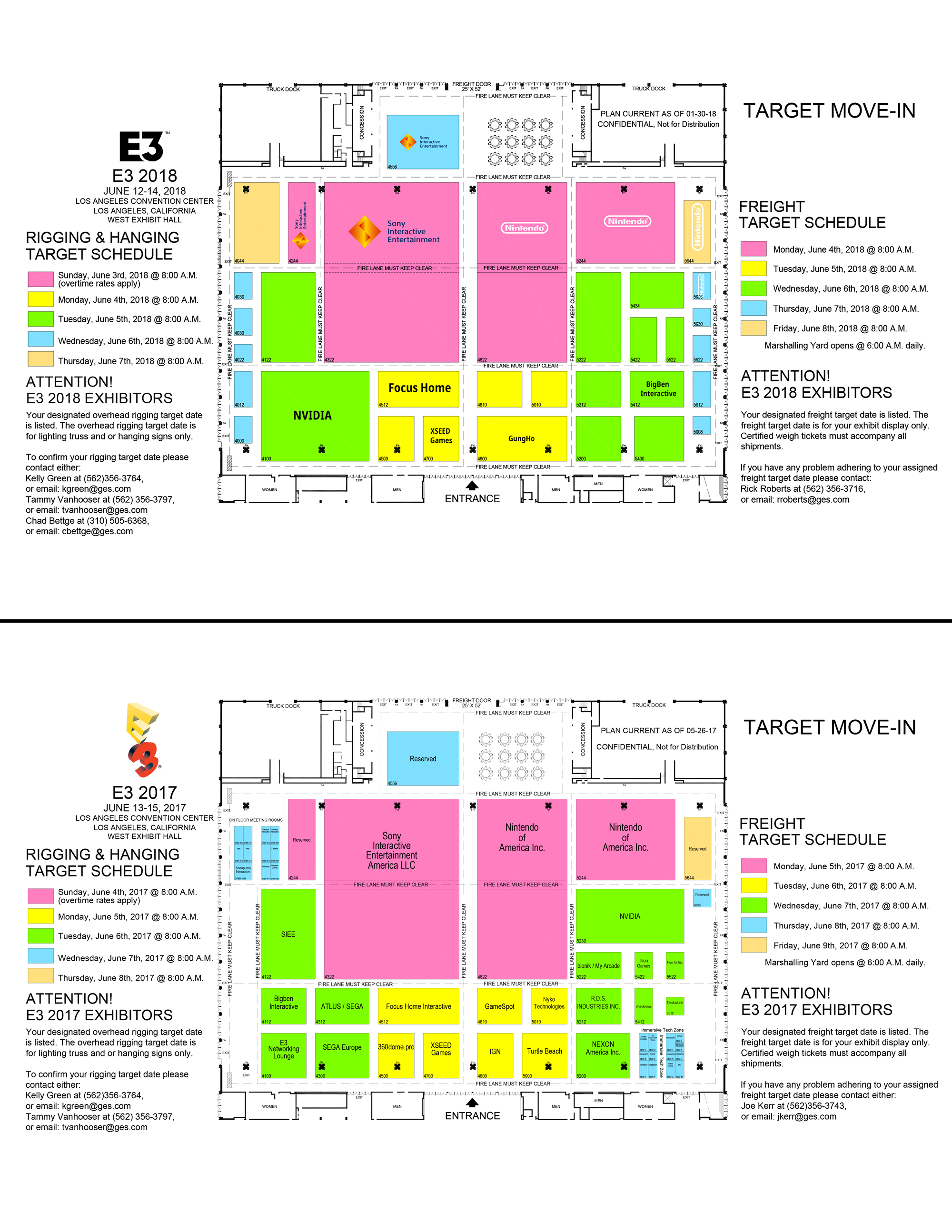 E3 2018 Floor Plans Are Here Cat With Monocle