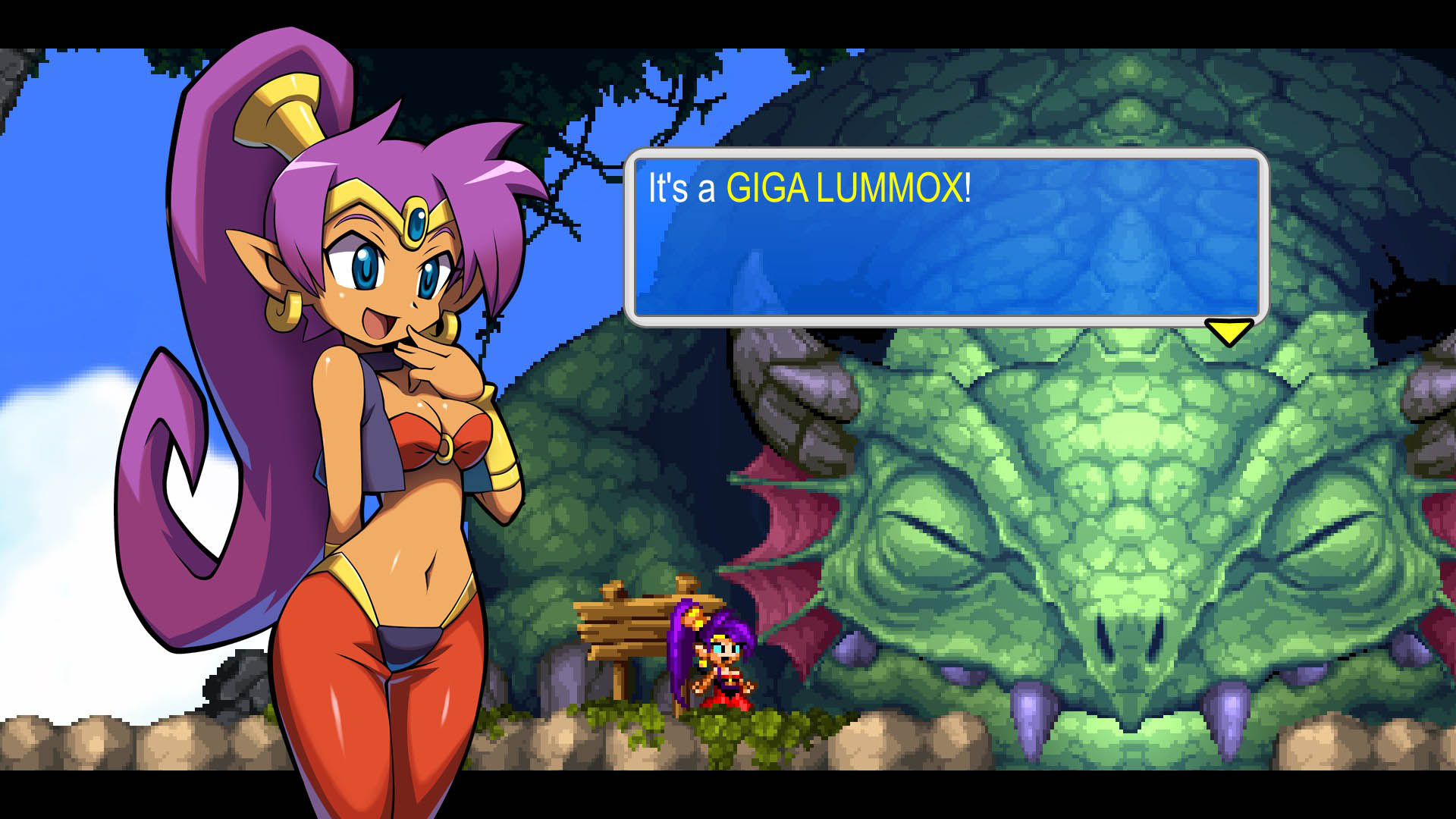 Shantae Pirates Curse Screenshot 07 Cat With Monocle