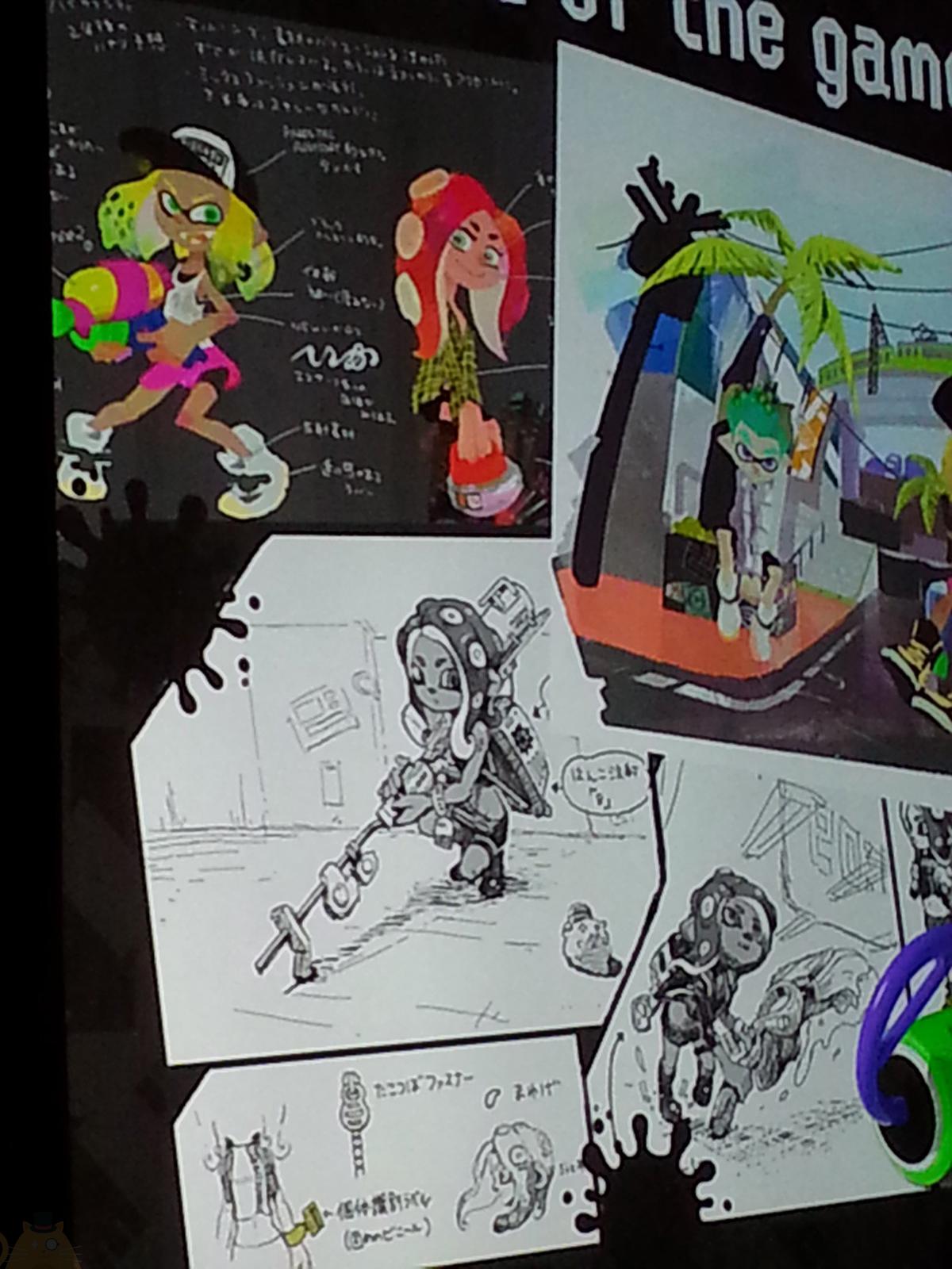 Splatoon Prototypes Concept Art Showcased At Gdc Update