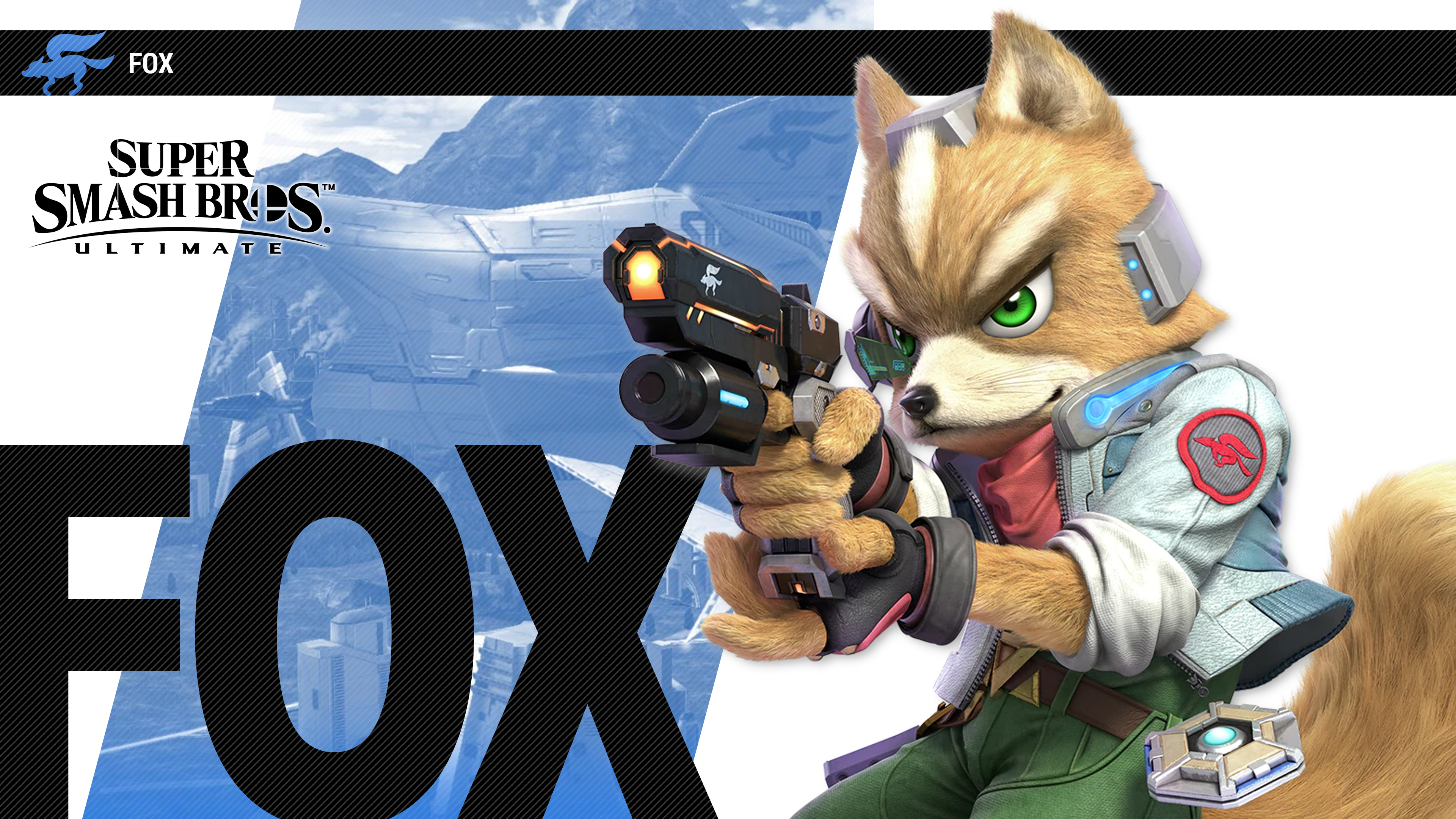 super smash bros ultimate fox wallpapers cat with monocle