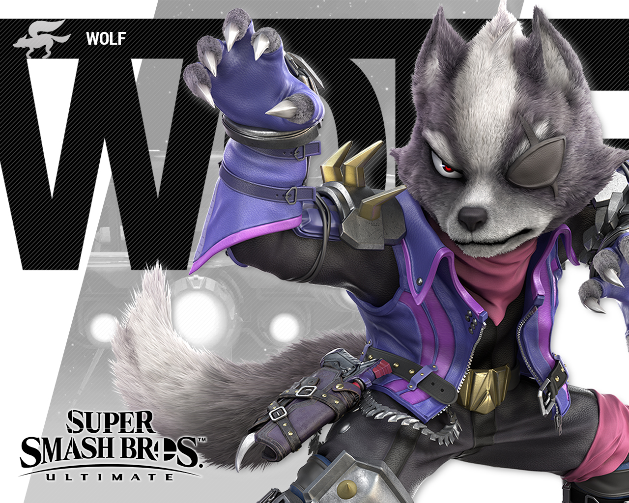 Super Smash Bros Ultimate Wolf Wallpapers Cat With Monocle