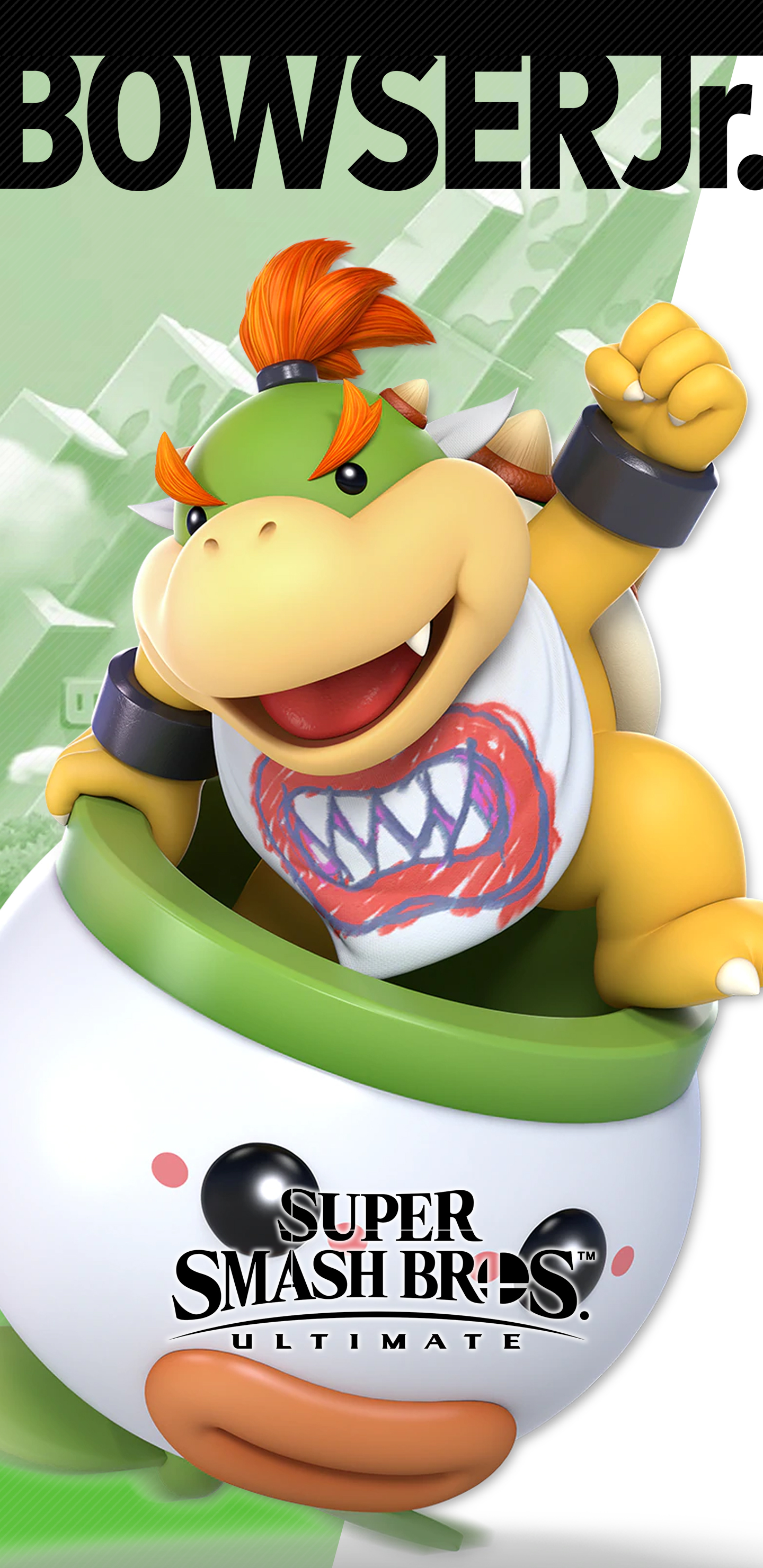 super smash bros ultimate bowser jr wallpapers cat with monocle
