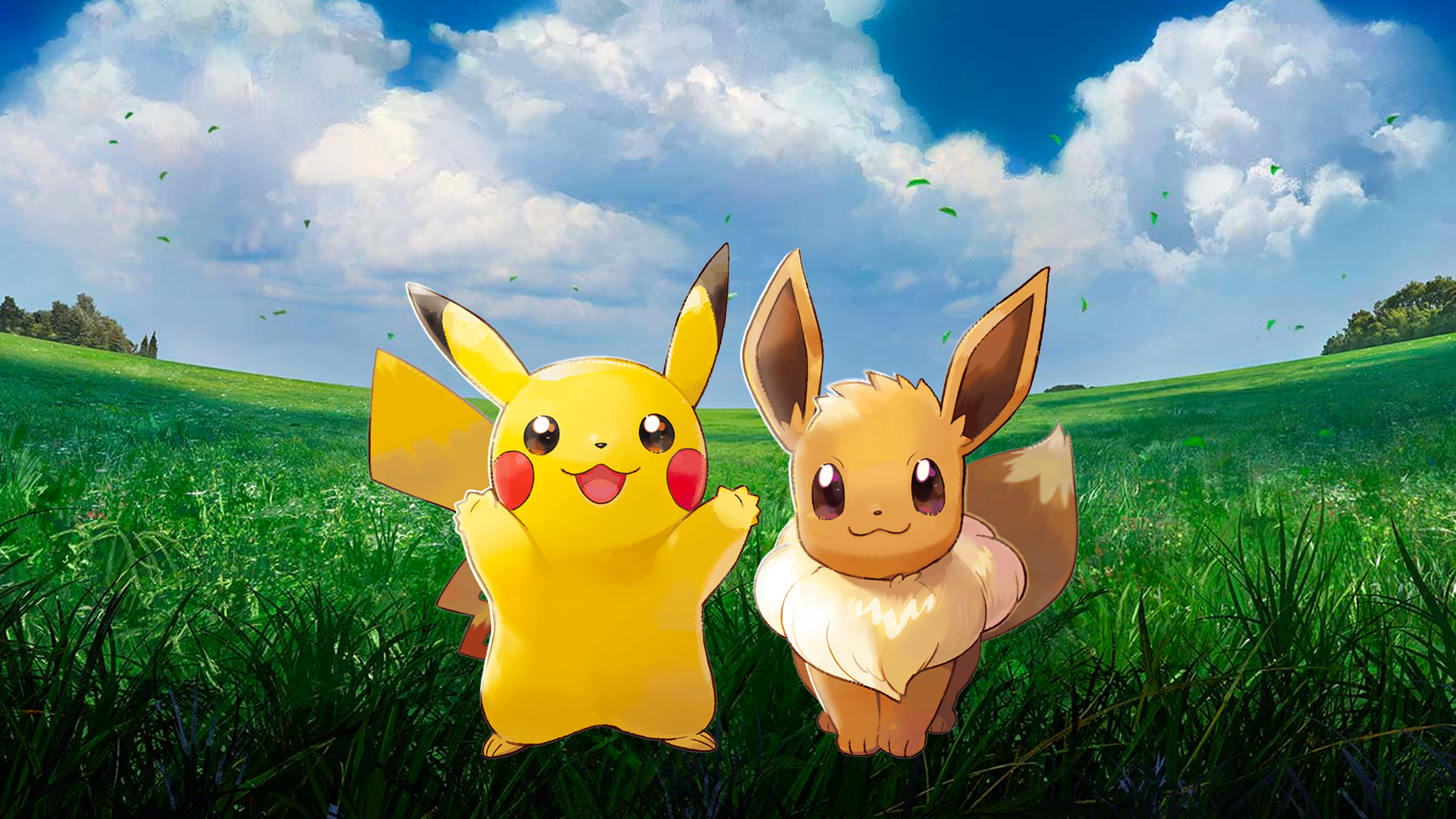 Pokemon Let S Go Pikachu Eevee V2 Wallpapers Cat With Monocle