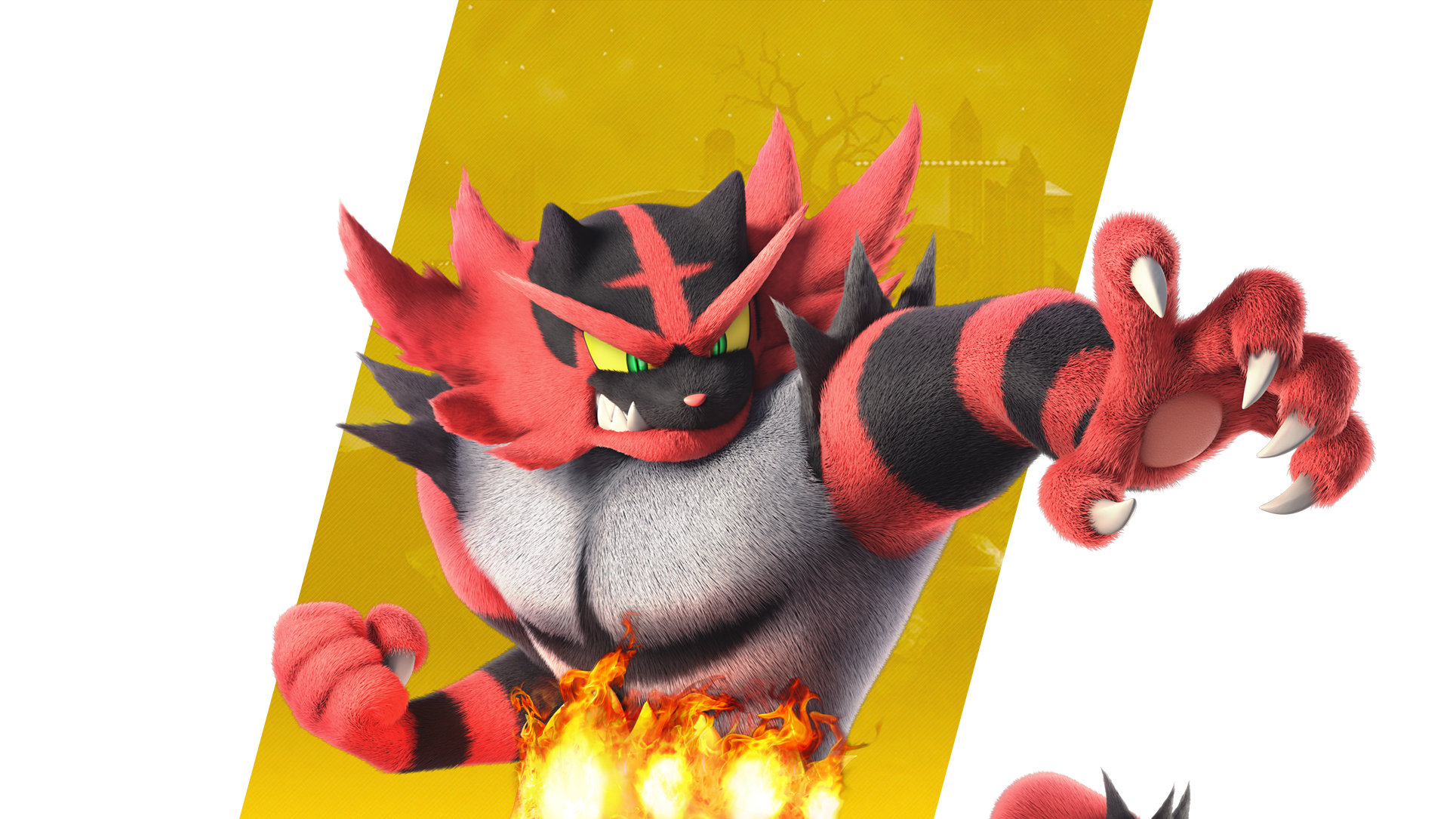 Super Smash Bros Ultimate Incineroar Wallpapers Cat With Monocle