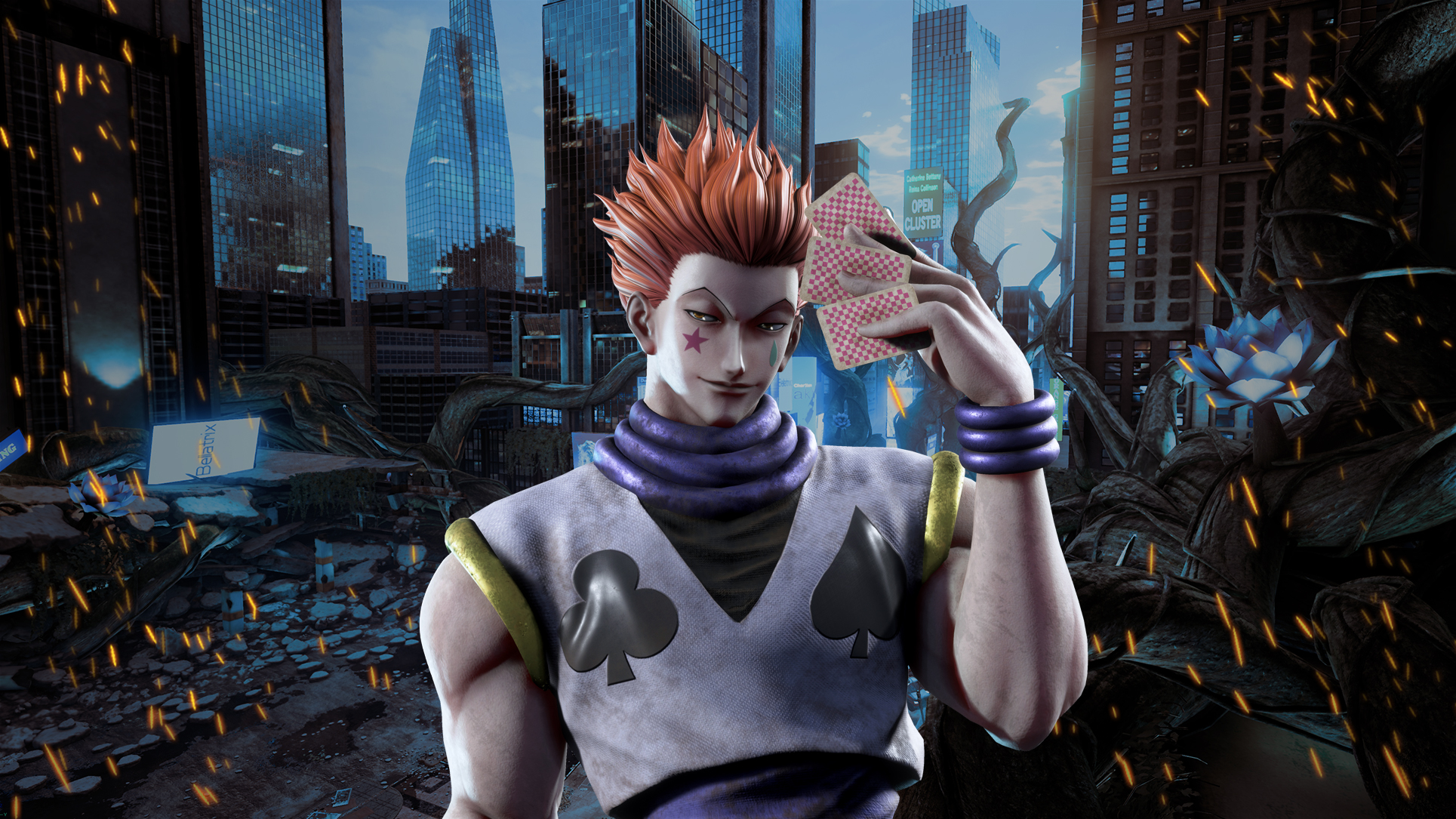 Jump Force Hisoka Wallpapers Cat With Monocle