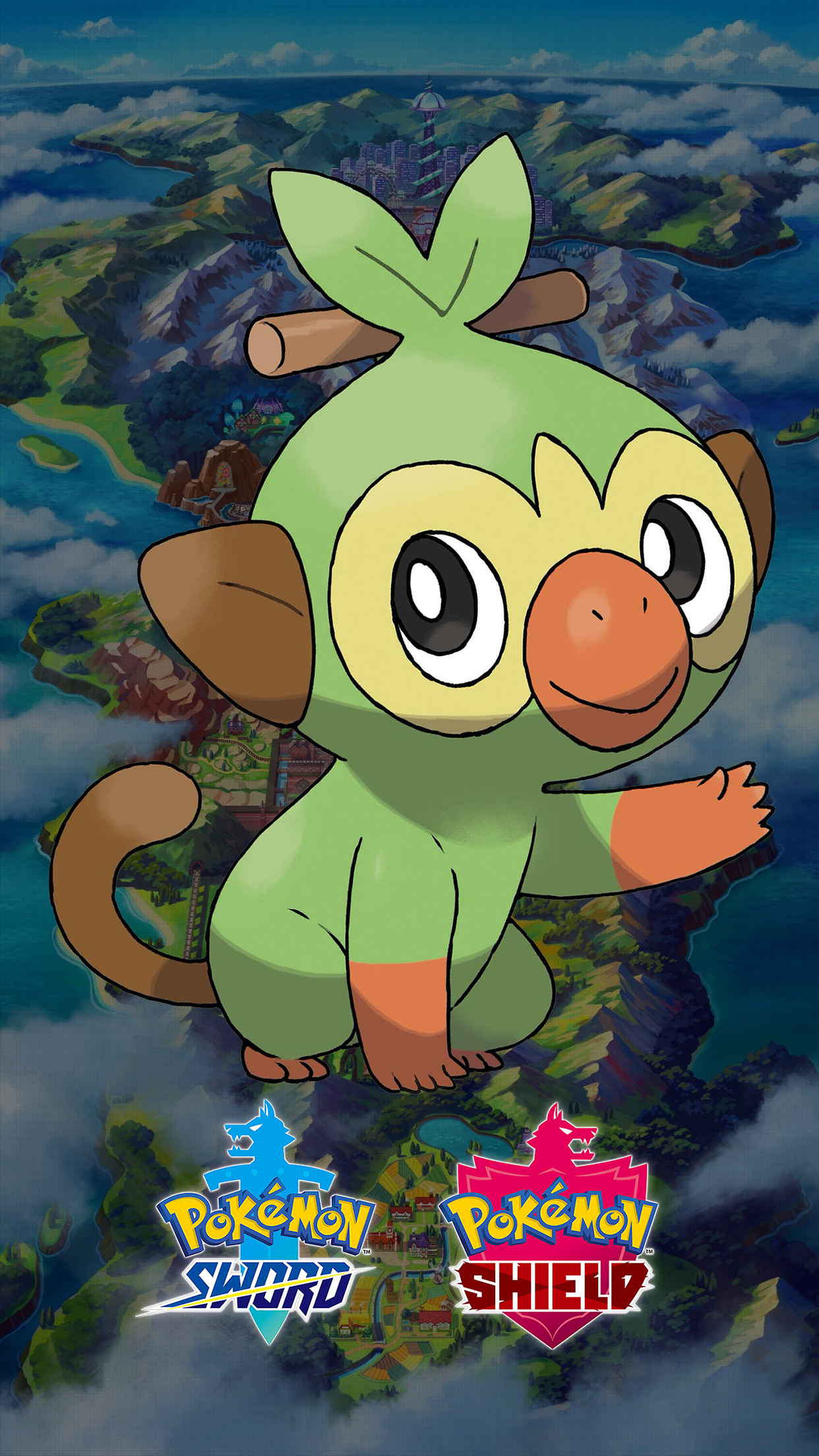 Pokemon Sword and Shield Grookey Wallpapers   Cat with Monocle