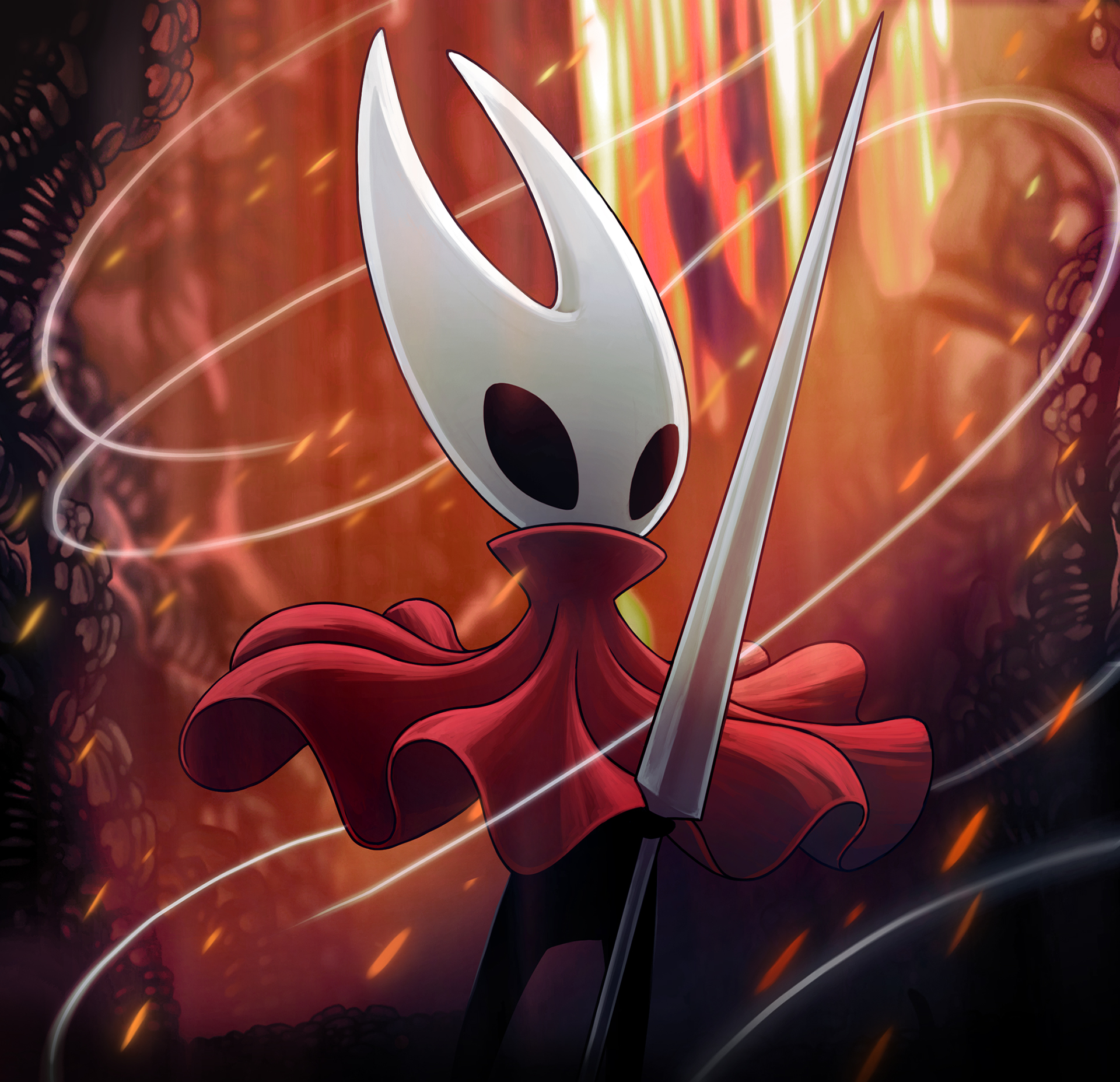 Hollow Knight Silksong Announced Cat With Monocle