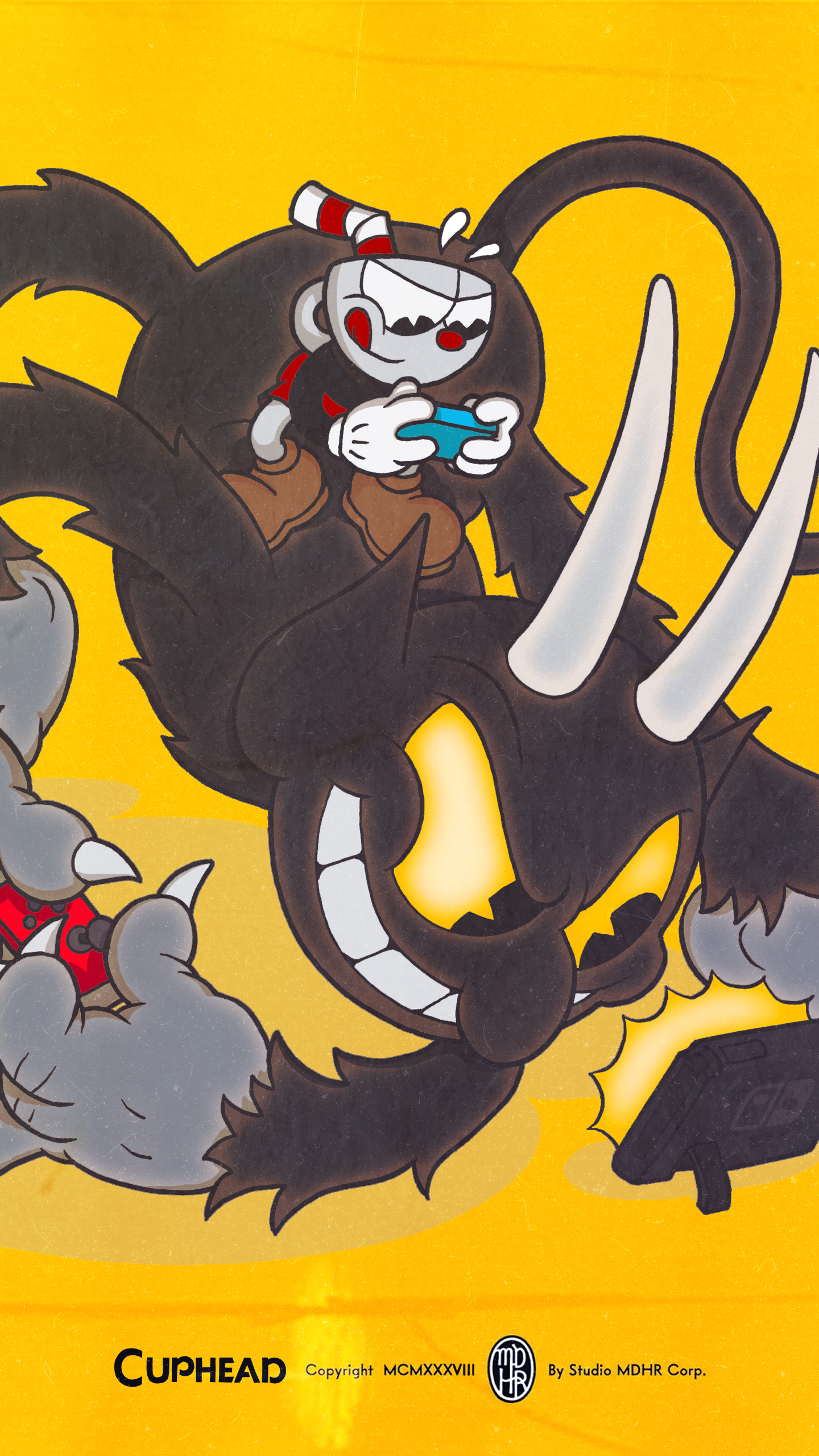 Cuphead The Devil Wallpaper | Cat with Monocle