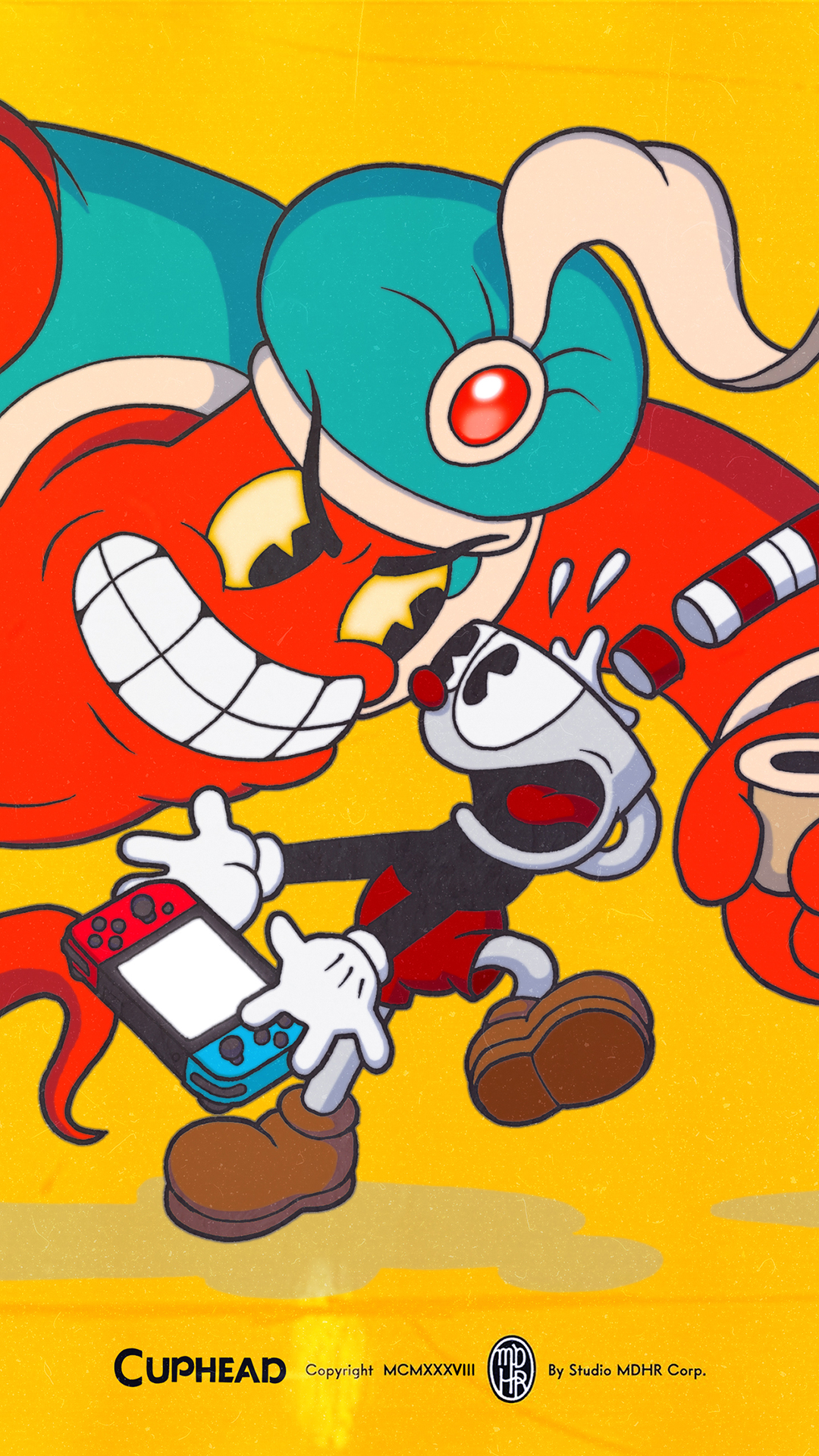 Cuphead Djimmi the Great Wallpaper | Cat with Monocle