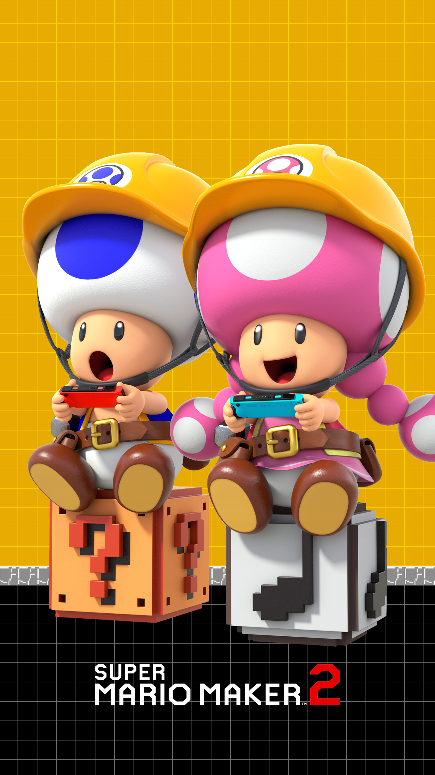 Super Mario Maker 2 Toad And Toadette Wallpaper Cat With