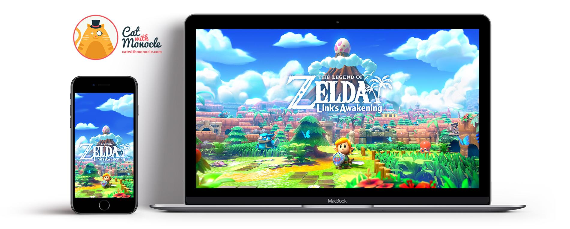 The Legend Of Zelda Link S Awakening Cover Art Wallpaper