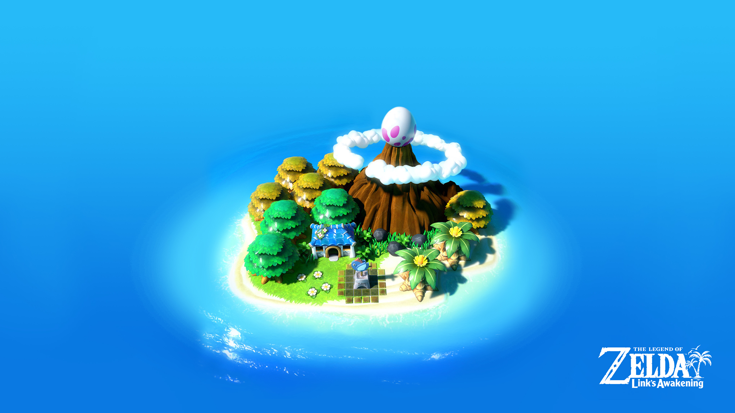 Zelda Linksawakening Island 2560x1440 Cat With Monocle