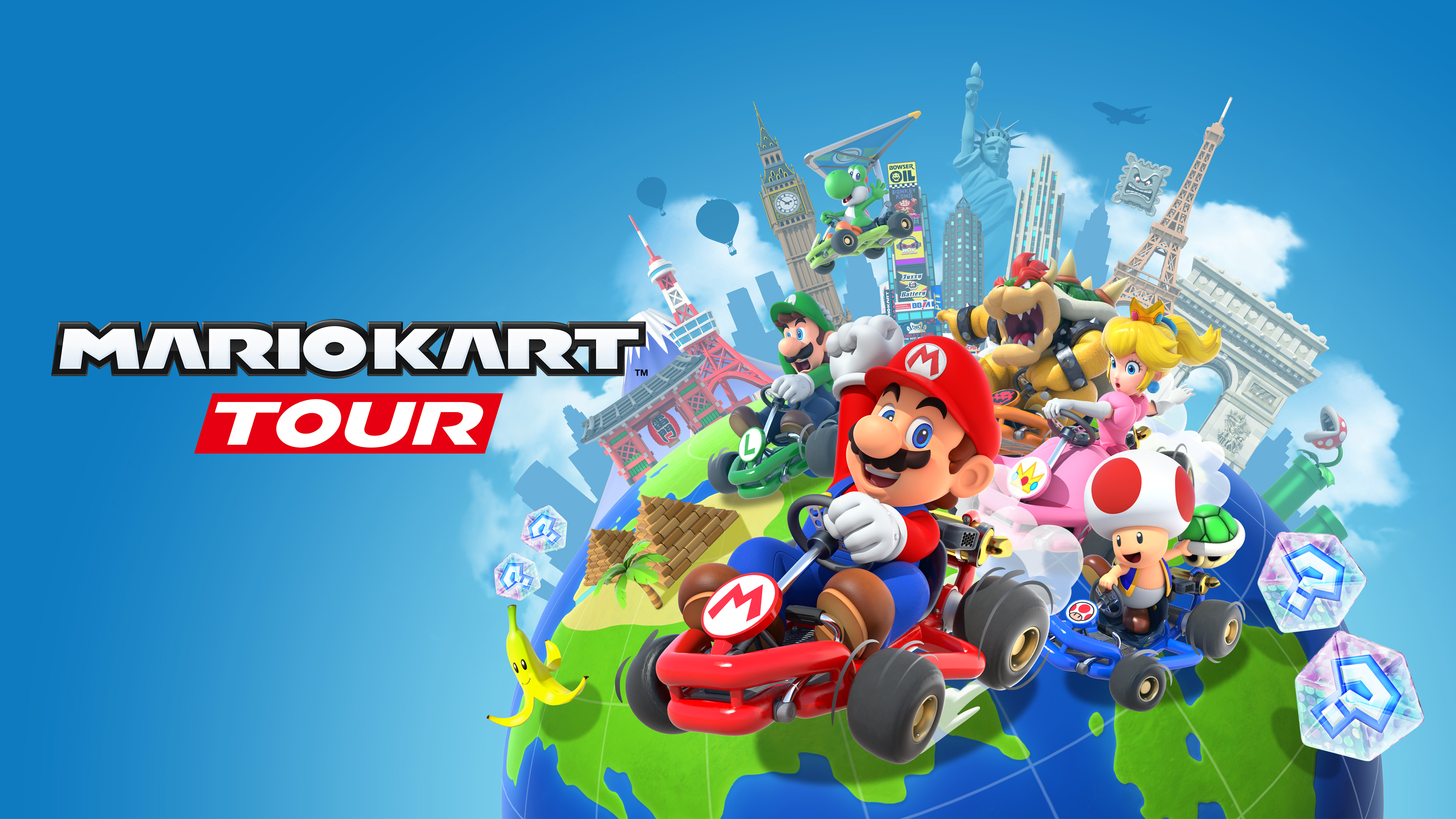 Mario Kart Tour Art Wallpaper Cat With Monocle