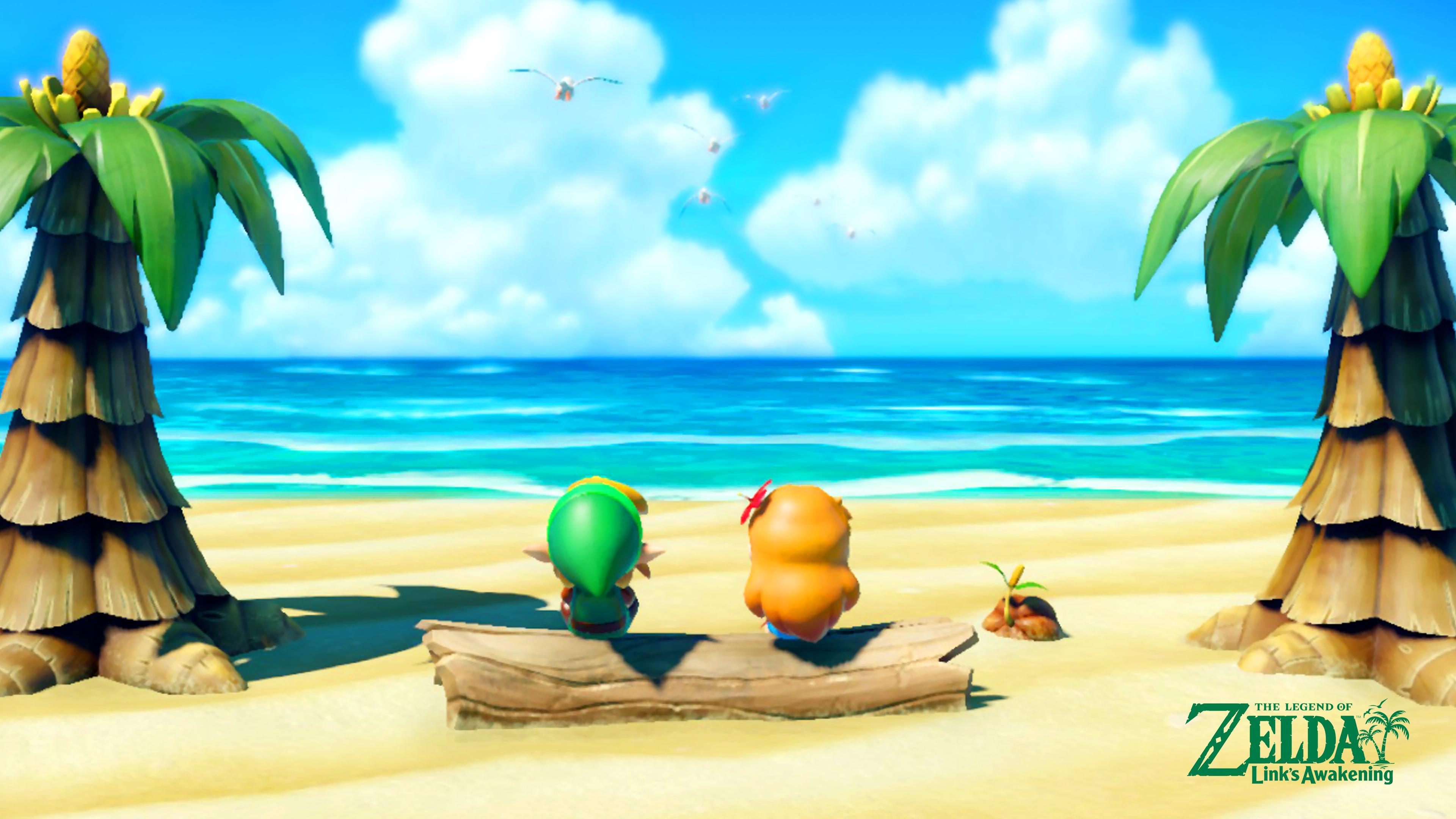 The Legend Of Zelda Link S Awakening Beach Wallpaper Cat
