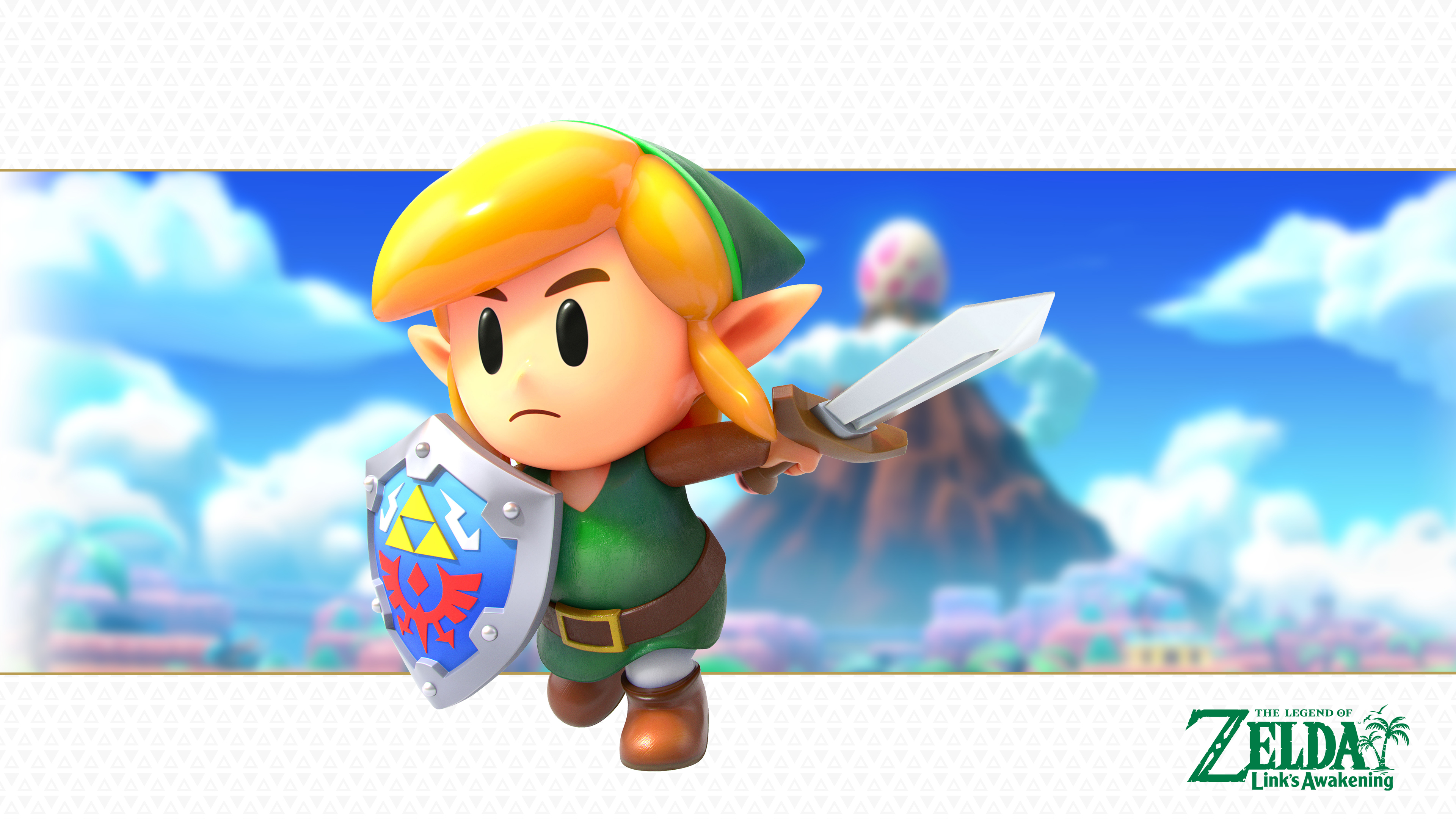 The Legend Of Zelda Link S Awakening Link Version 2 Wallpaper