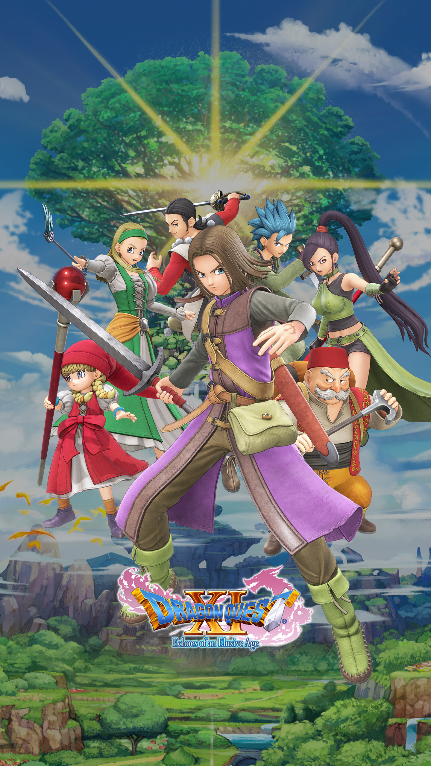 Dragon Quest Xi Characters Wallpaper