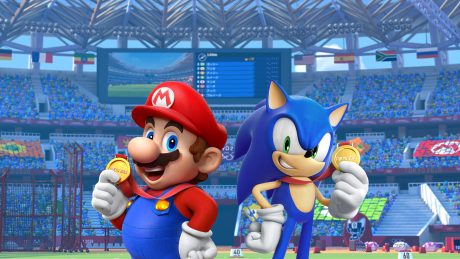 Mario Sonic At The Olympic Games Tokyo 2020 Promo Art Wallpaper Cat With Monocle