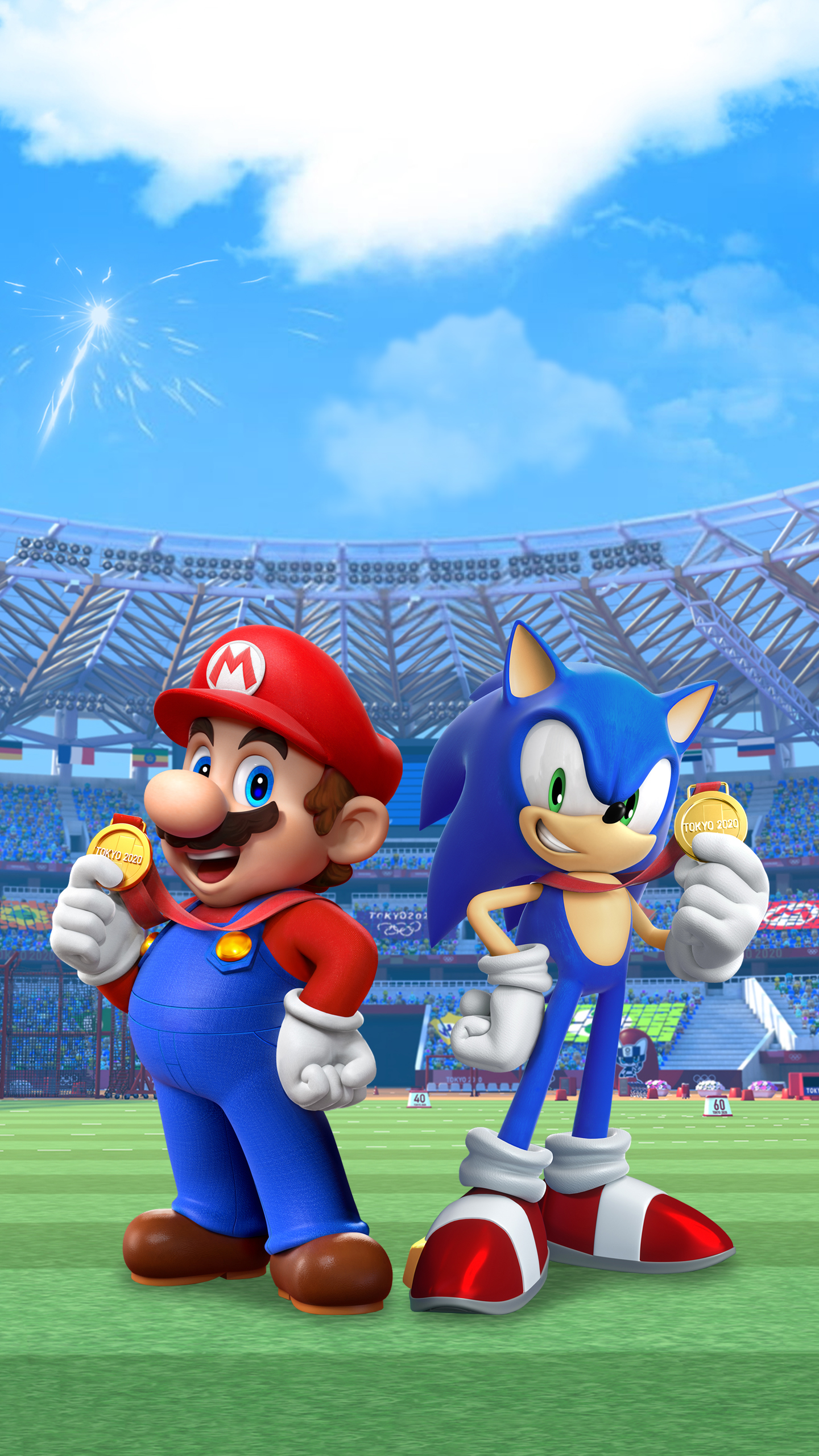 Mario Sonic At The Olympic Games Tokyo 2020 Promo Art Wallpaper