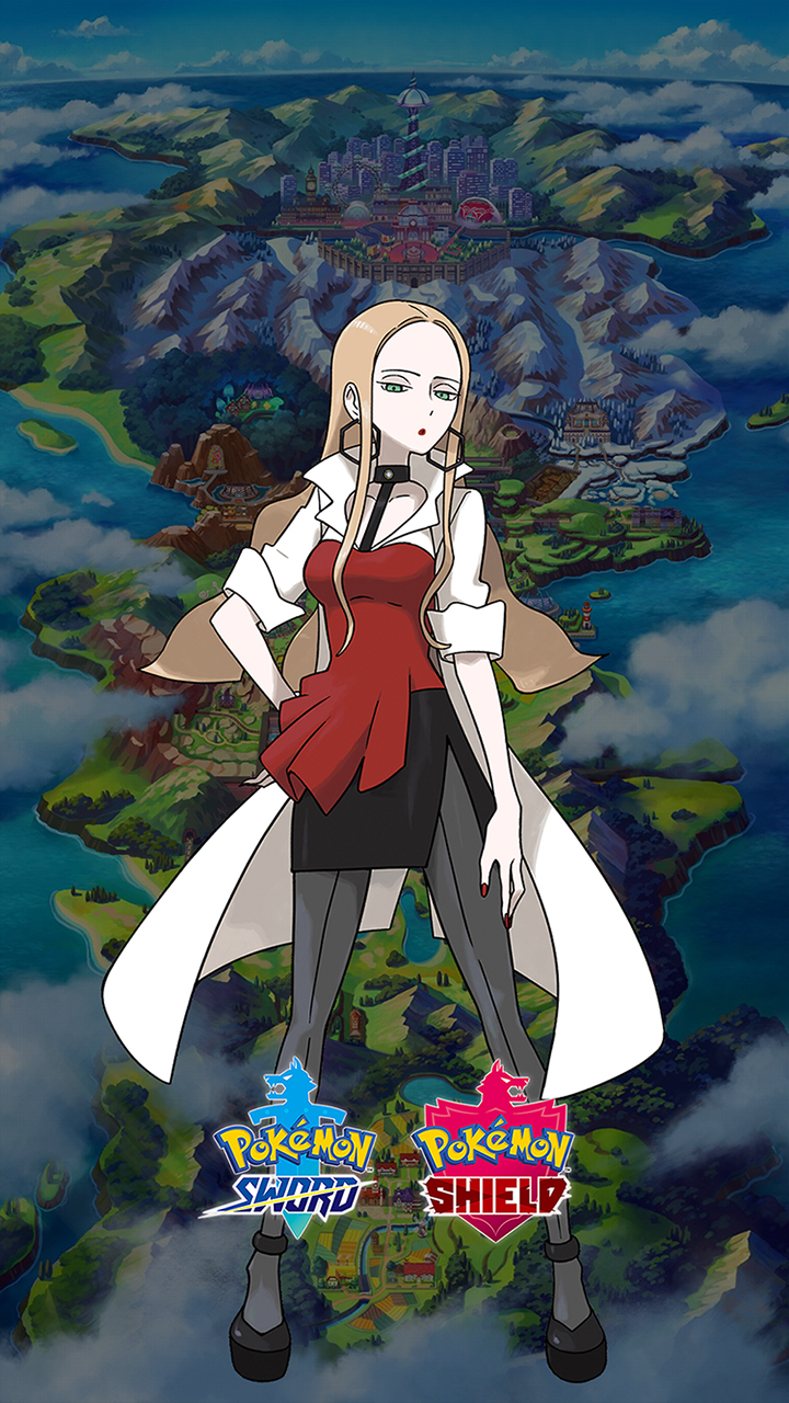 Pokemon Sword and Shield Oleana Wallpapers | Cat with Monocle