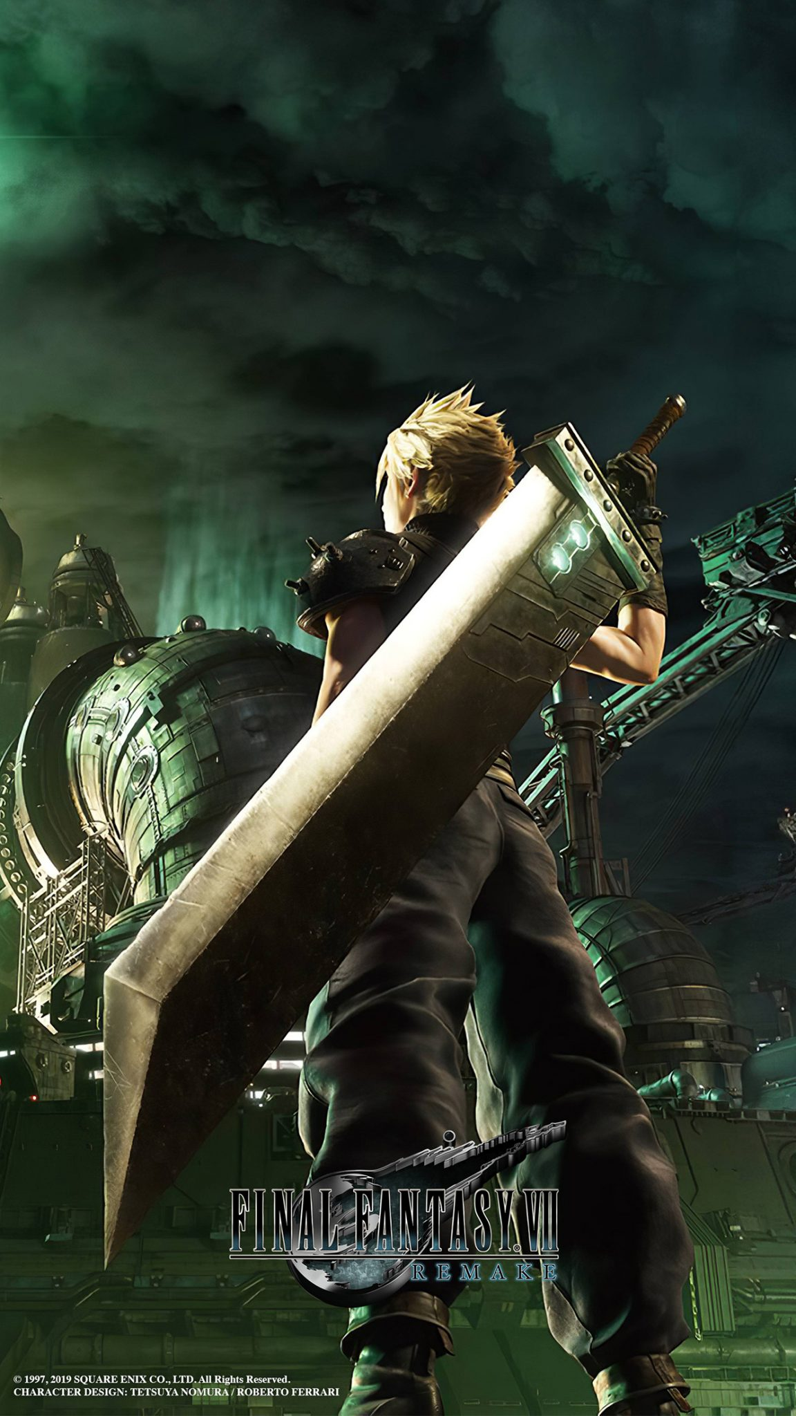 Final Fantasy Vii Remake Cloud Artwork Wallpaper Cat With Monocle