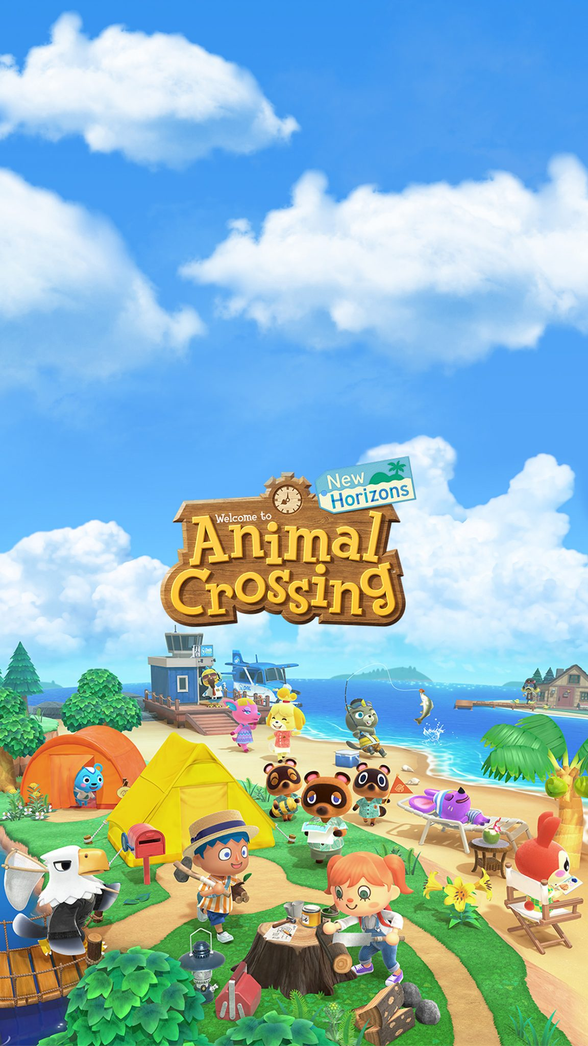 Animal Crossing New Horizons Cover Art Wallpaper Cat With Monocle