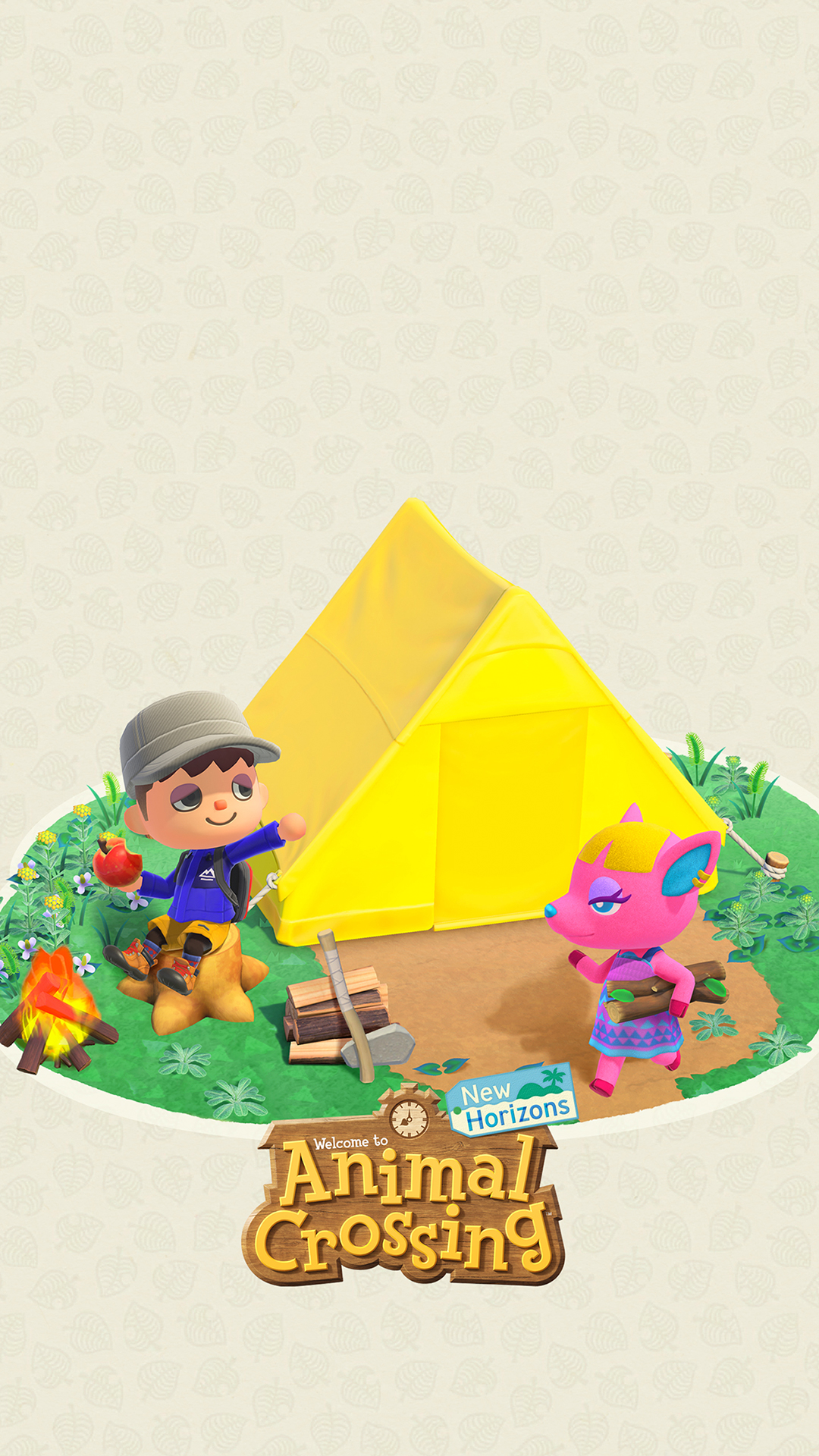 Animal Crossing New Horizons Camping Wallpaper | Cat with ...
