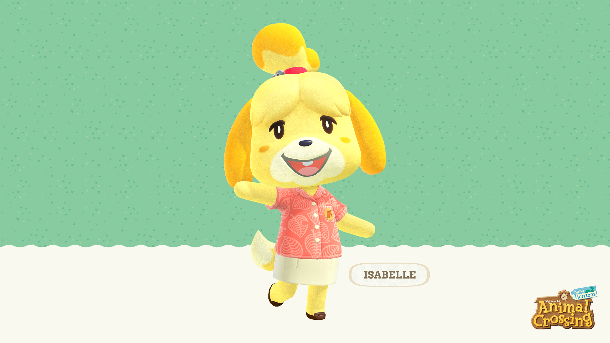 Animal Crossing New Horizons Isabelle Wallpaper Cat With Monocle