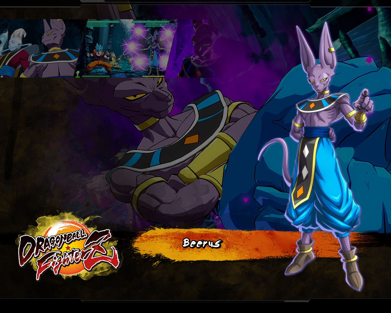 Dragon Ball Fighterz Beerus Wallpapers Cat With Monocle