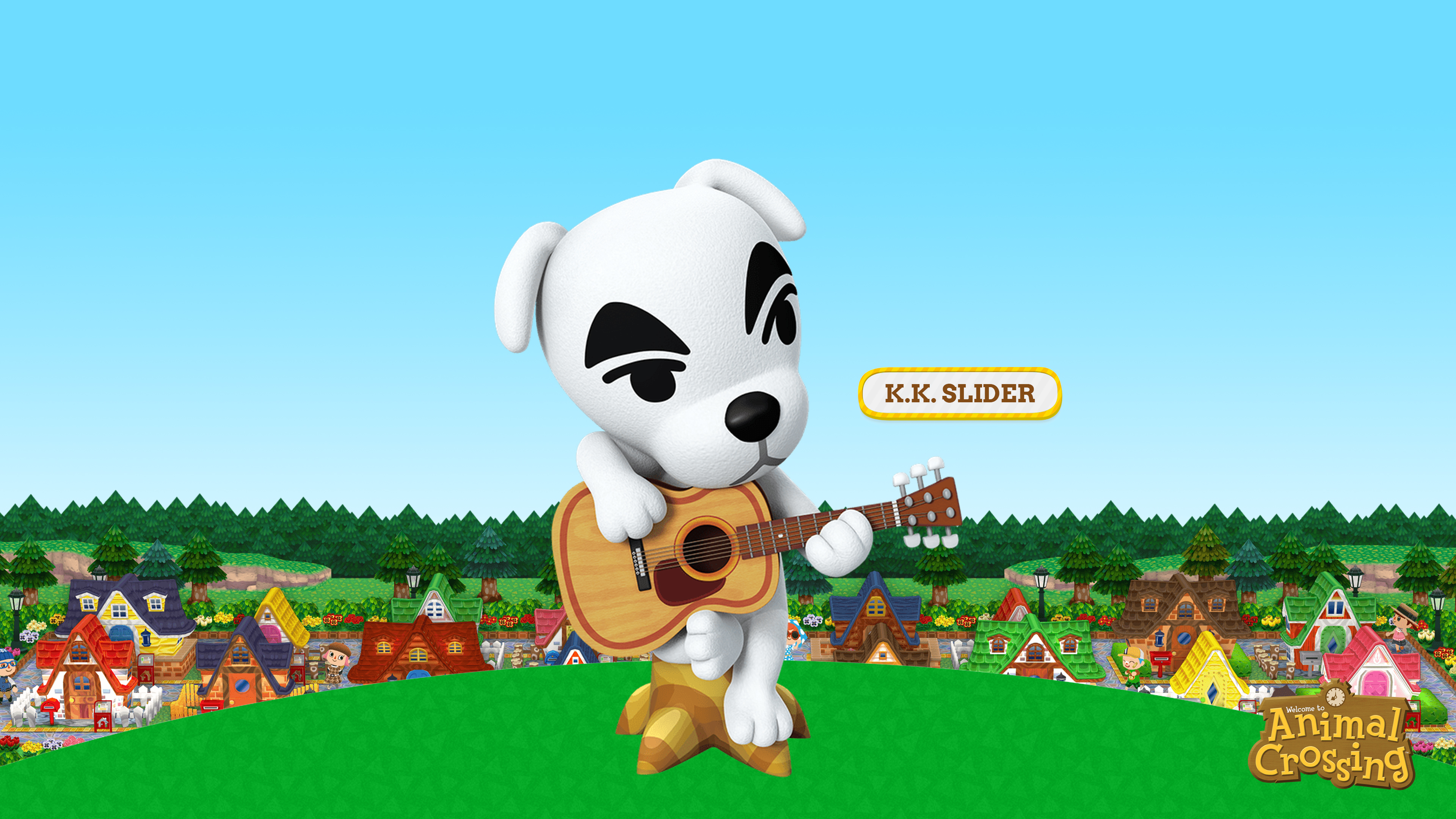Animal Crossing K K Slider Wallpaper Cat With Monocle