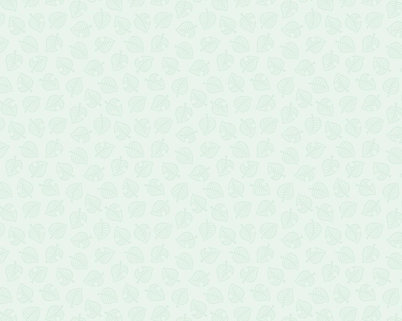 Animal Crossing New Horizons Leaf Pattern Version 2 Wallpaper