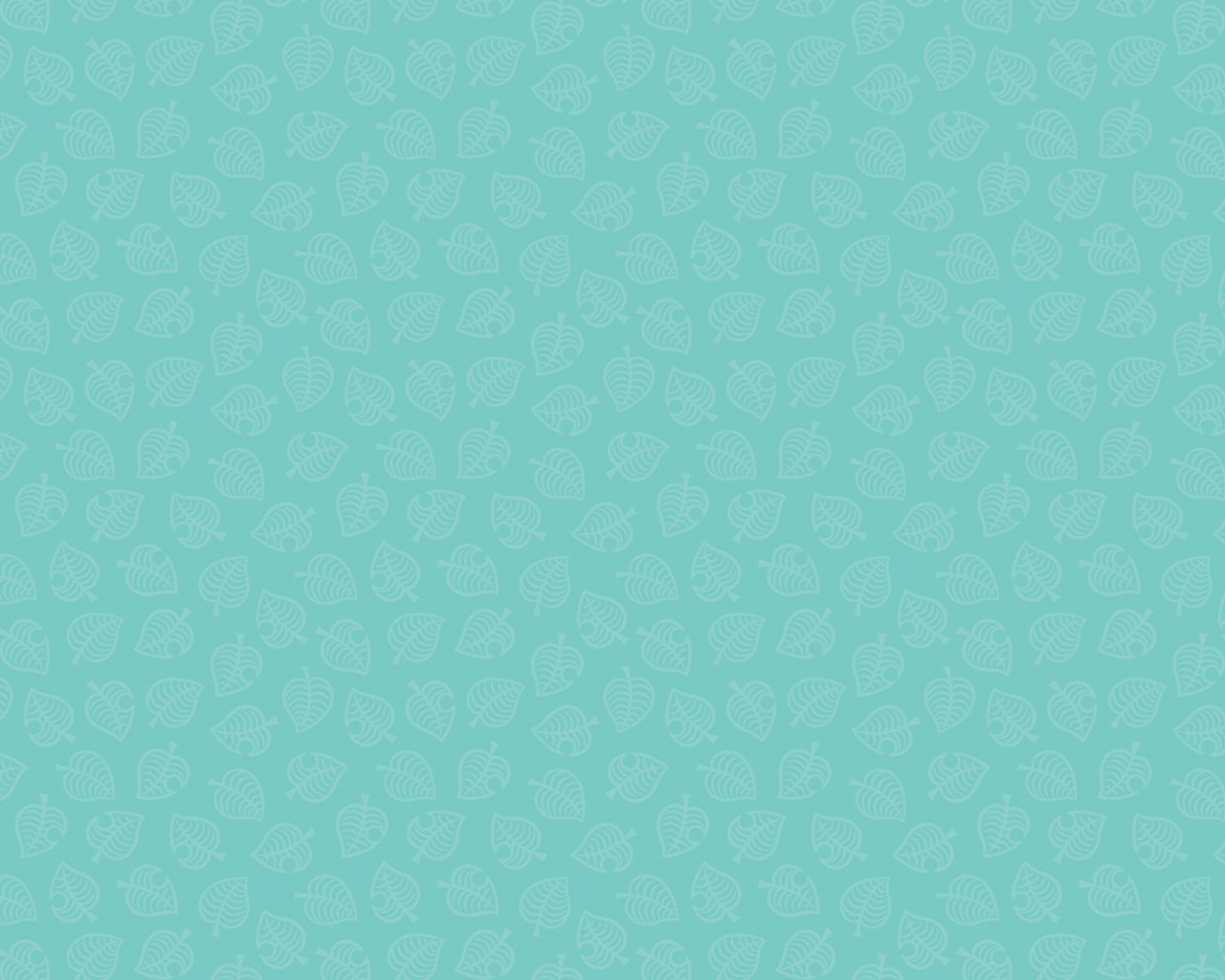 Animal Crossing New Horizons Leaf Pattern Version 3 Wallpaper Cat With Monocle