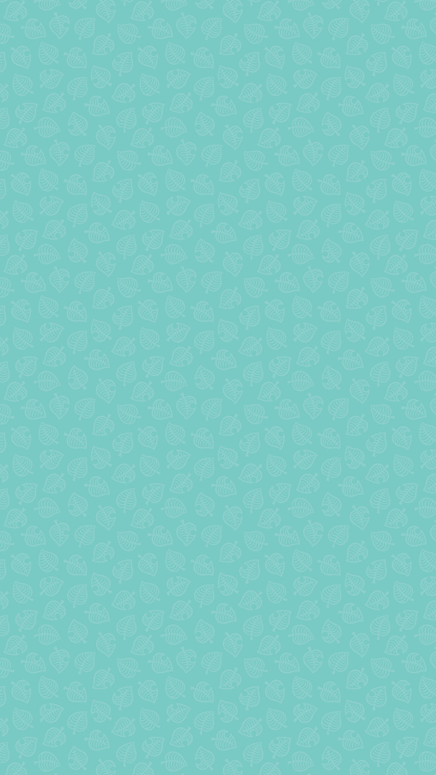 Animal Crossing New Horizons Leaf Pattern Version 3 Wallpaper