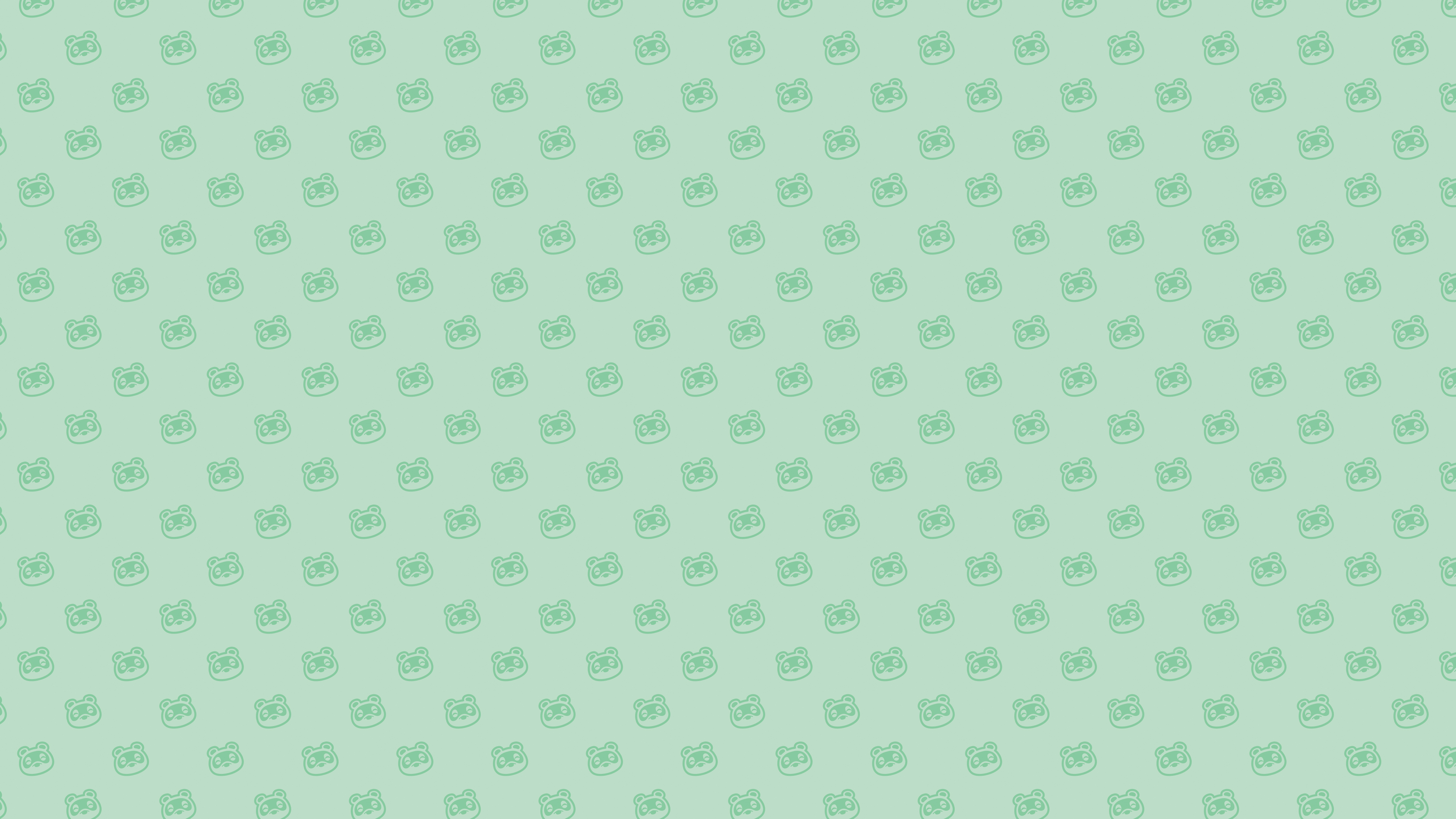 Animal Crossing New Horizons Nook Pattern Wallpaper Cat With Monocle