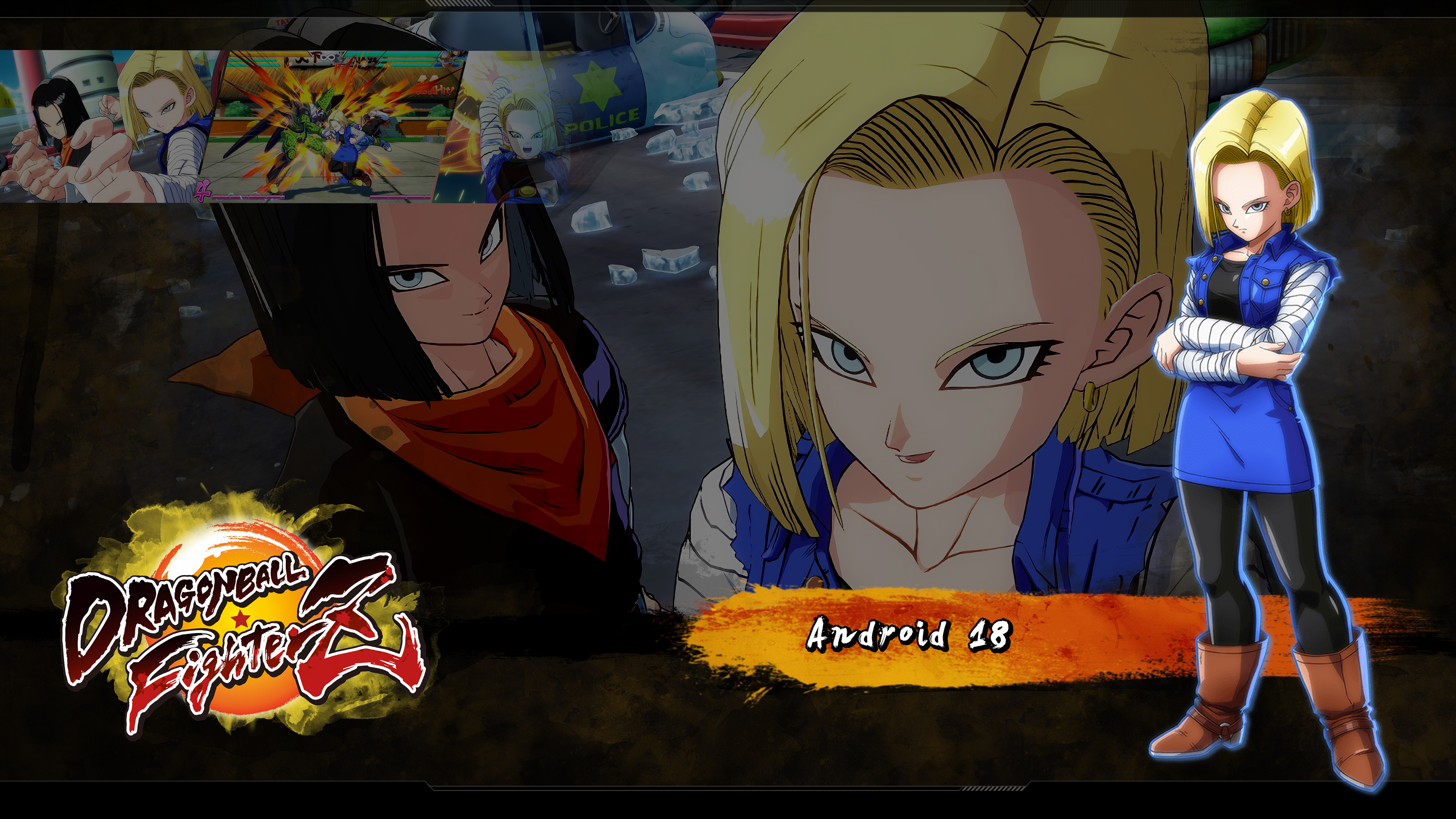 Dragon Ball Fighterz Android 18 Wallpapers Cat With Monocle
