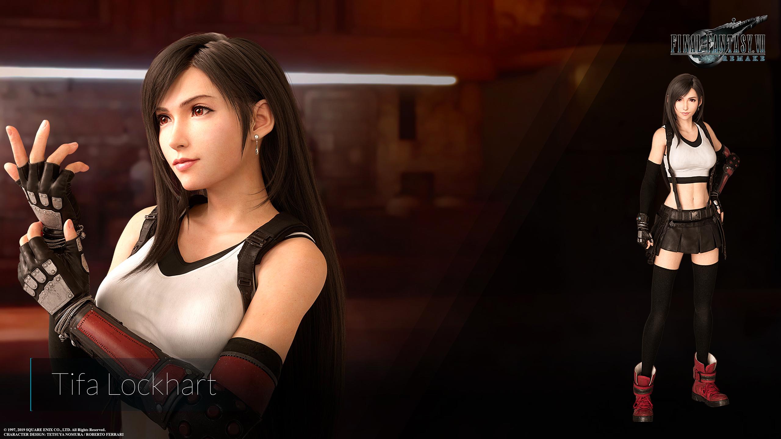 Final Fantasy Vii Remake Tifa Version 2 Wallpaper Cat With Monocle